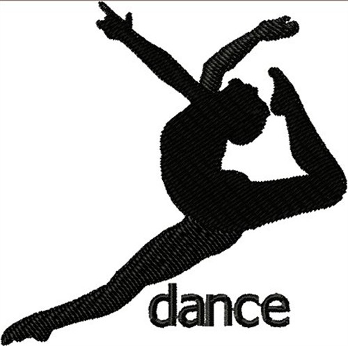 Dancer Silhouette Embroidery Designs, Machine Embroidery ...