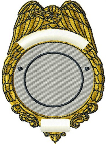 Blank police badge embroidery designs machine embroidery for Police patch design template
