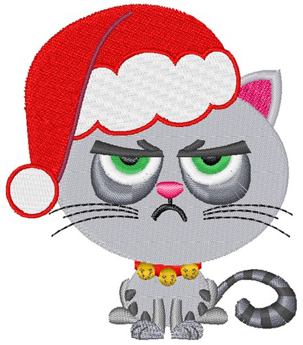 Grumpy Cat Christmas Embroidery Designs Machine Embroidery Designs