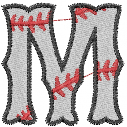 m letter design baseball letter m embroidery designs machine embroidery 23523 | bn000134 13