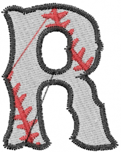 Baseball Letter R Embroidery Designs, Machine Embroidery Designs at ...