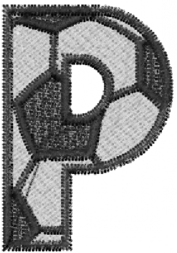 soccerball letter p embroidery designs machine embroidery designs