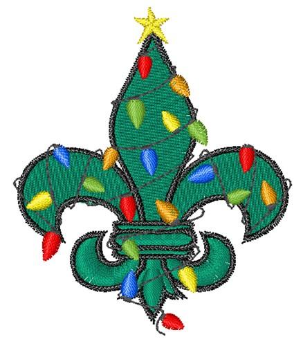 Fleur de lis christmas embroidery designs machine