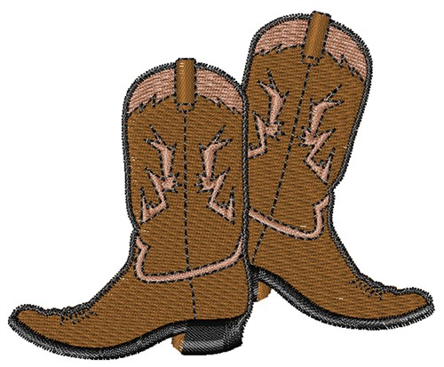 Embroidery Patterns Embroidery Design: Cowboy Boots 2.22 inches H ...