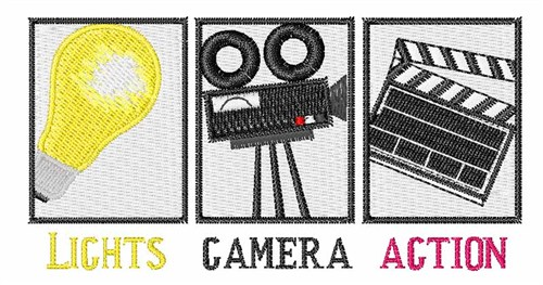 Lights Camera Action Embroidery Designs Machine Embroidery Designs
