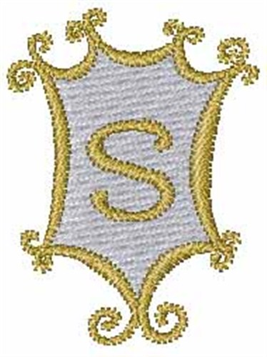 Mirror Monogram S Embroidery Designs Machine Embroidery