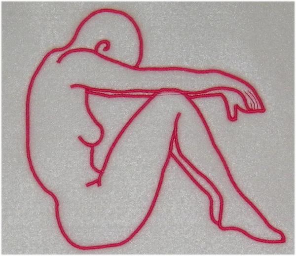 Yoga pose embroidery designs machine