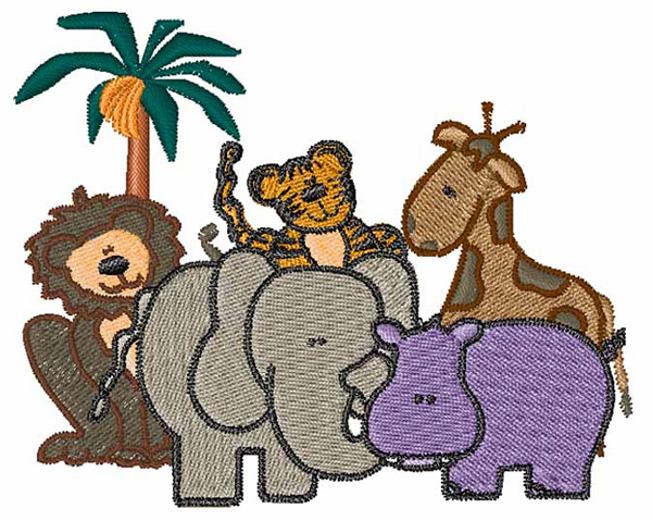 African Animals Embroidery Designs Machine Embroidery Designs At