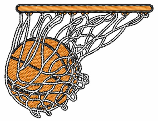 Basketball net embroidery designs machine