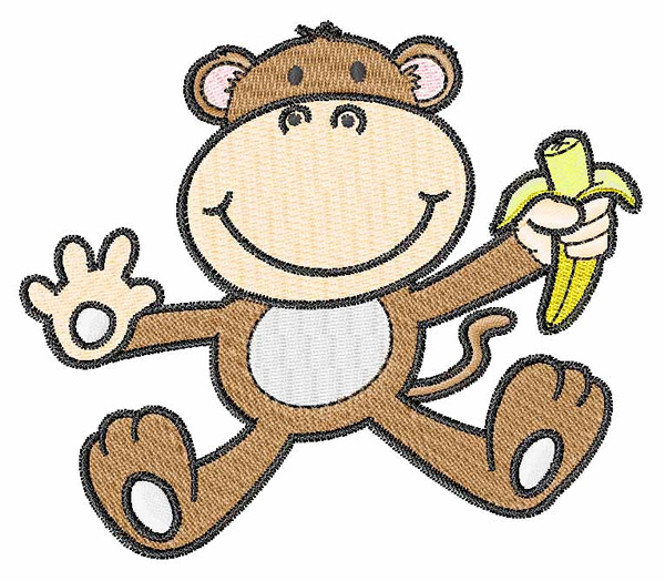 Cute Monkey Embroidery Designs Machine Embroidery Designs At EmbroideryDesigns.com