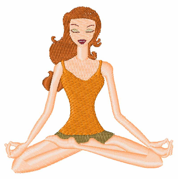 Yoga girl embroidery designs machine