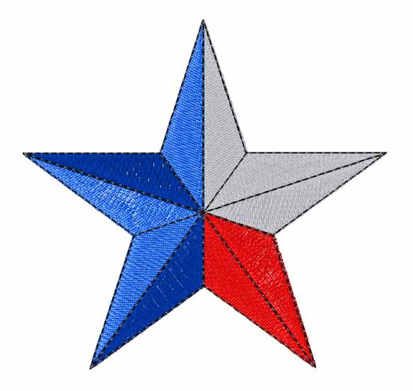 Texas Star Embroidery Design
