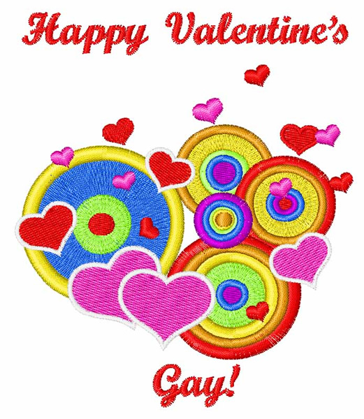 Happy Valentines Gay Embroidery Designs Machine Embroidery Designs