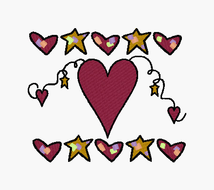 Hearts And Stars Embroidery Designs, Machine Embroidery ...