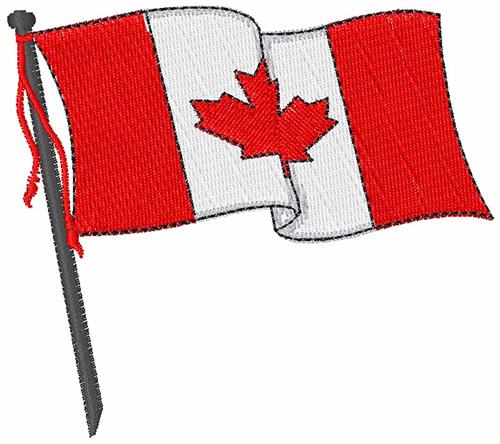 Canadian flag embroidery designs machine