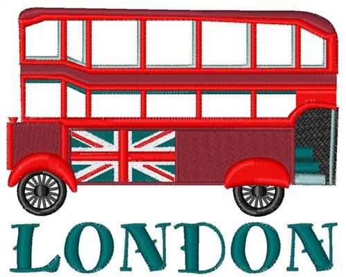 London bus embroidery designs machine