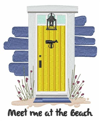 Beach House Front Door Embroidery Designs Machine Embroidery