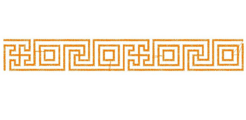 ... Embroidery Design: Greek Key Border 0.75 inches H x 5.68 inches W