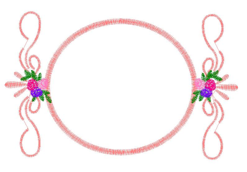 Frame With Floral Scrolls Embroidery Designs Free Machine