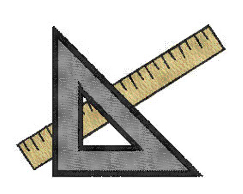 Protractor And Ruler Embroidery Designs Machine