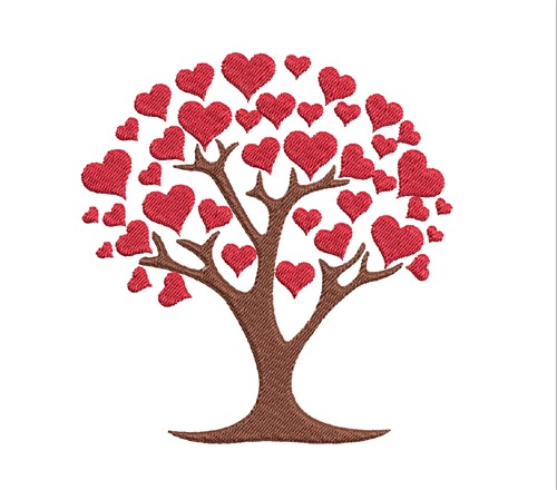 42+ Valentines Heart Tree Design Design