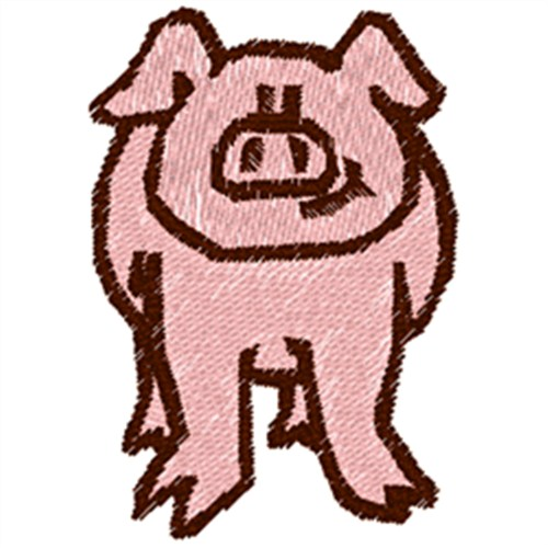 Pink Pig Front Embroidery Designs Free Machine Embroidery Designs