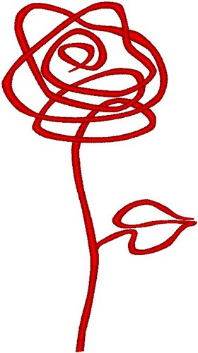 Abstract rose embroidery designs free machine