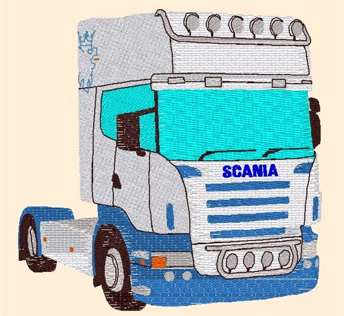 Scania Truck Embroidery Designs Free Machine Embroidery