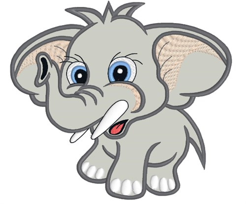 Baby Elephant Applique Embroidery Designs Free Machine Embroidery
