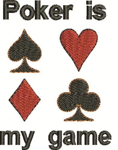 Poker suits embroidery designs machine