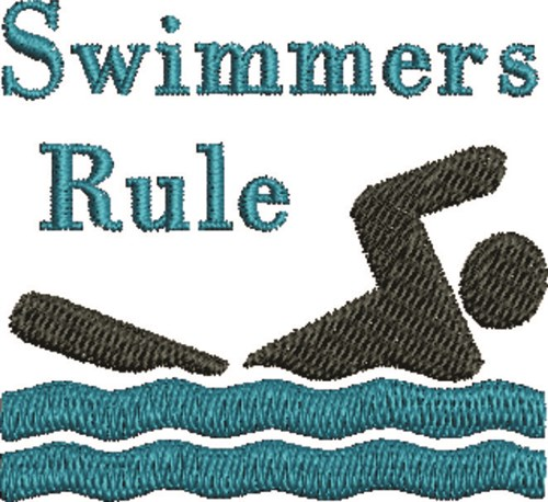Swimmers Embroidery Designs