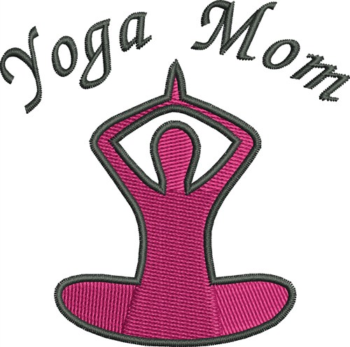 Yoga mom embroidery designs machine at