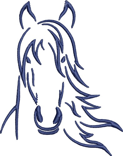 Horse Head Machine Embroidery Designs
