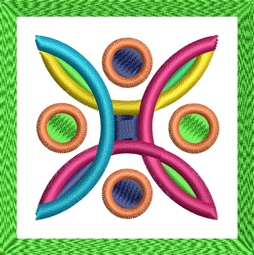 Geometric embroidery designs machine
