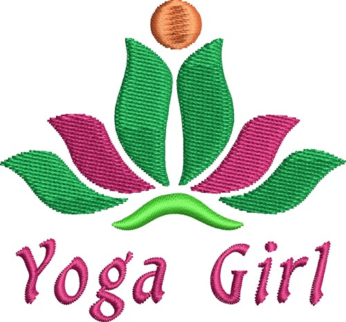 Lotus yoga girl embroidery designs machine