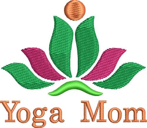 Lotus yoga mom embroidery designs machine