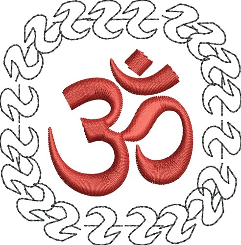 Om yoga embroidery designs machine at