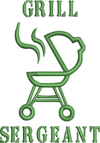 Barbecue Grill Outline Embroidery Designs Machine Embroidery