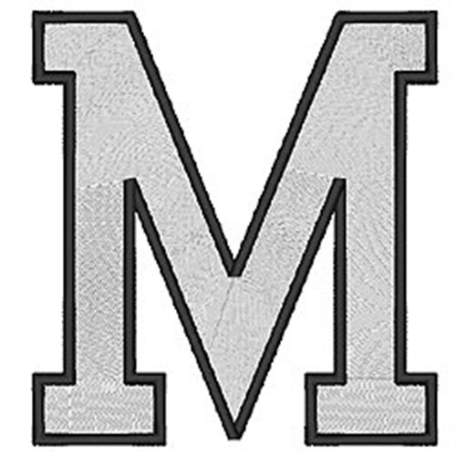 block letter m college block m embroidery designs machine embroidery 29509