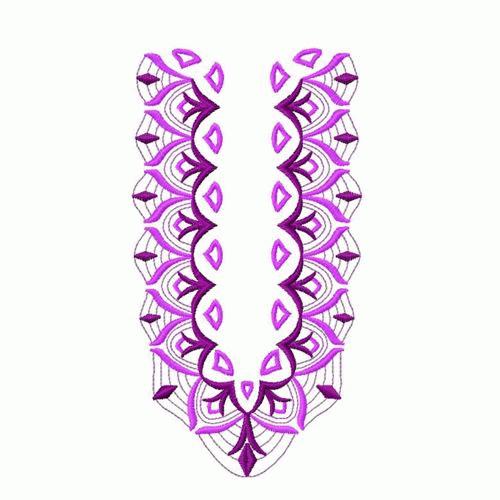Necklines embroidery designs machine
