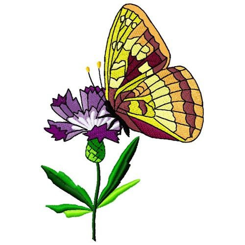 Butterfly And Flower Embroidery Designs Machine
