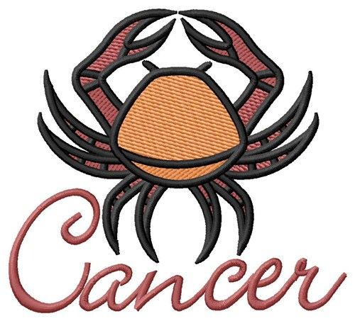 Cancer zodiac sign embroidery designs machine