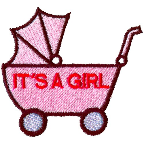 Girl With Carriage Machine Embroidery Designs
