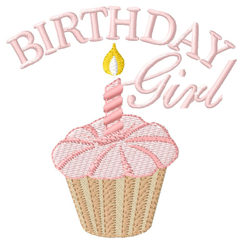 Birthday girl embroidery designs machine