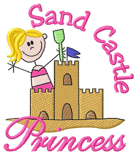 Sand Castle Princess Embroidery Designs Machine Embroidery Designs