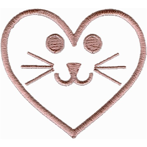 Heart Cat Face Embroidery Designs Machine Embroidery