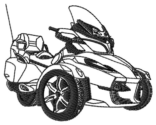 Spyder Touring Outline Embroidery Designs, Machine ...