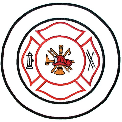 Fire Maltese Cross Embroidery Design