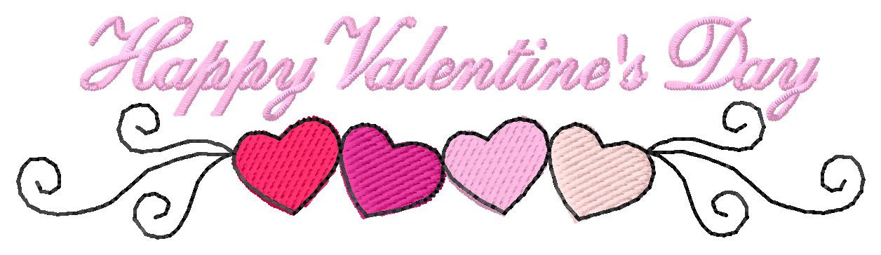 Happy Valentines Day Embroidery Designs Machine Embroidery Designs
