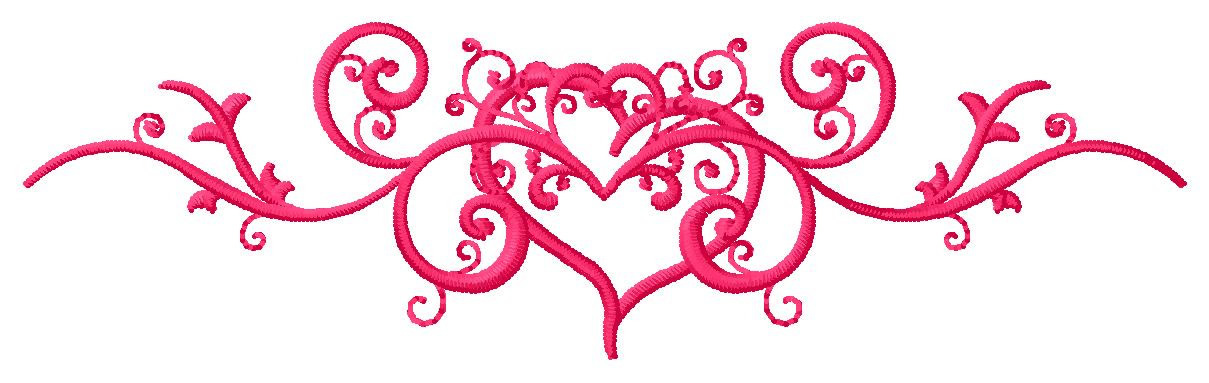 Heart Scroll Embroidery Designs, Machine Embroidery Designs at ...